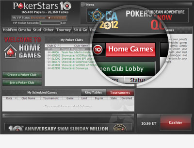 home games pokerstars